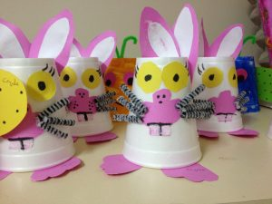 paper cup bunny craft