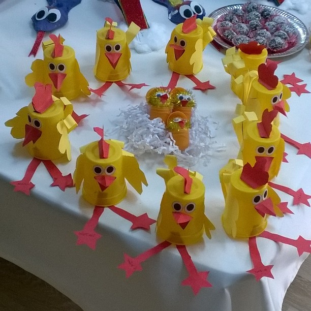 paper cup chick craft idea for kids