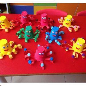 paper-cup-octopus-craft-idea