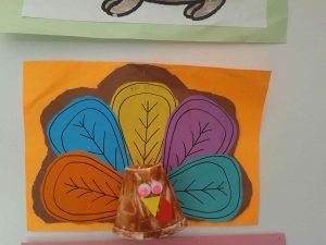 paper cup turkey craft
