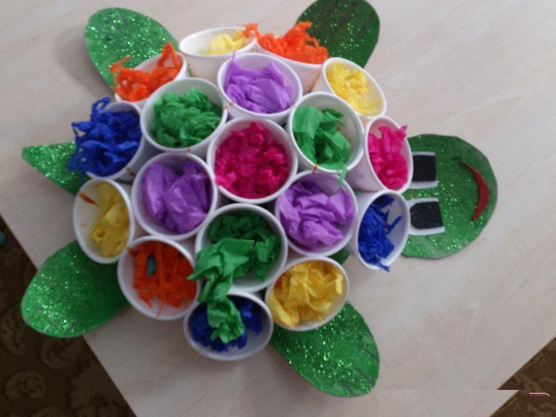 paper cup turtle craft idea