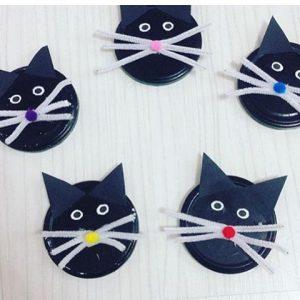paper plate cat craft idea for preschoolers