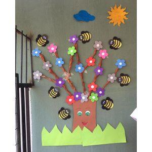 spring bulletin board idea for kids