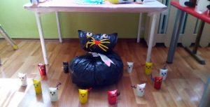 toilet paper roll cat craft
