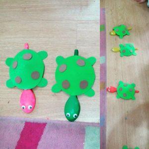 wooden spoon turtle craft