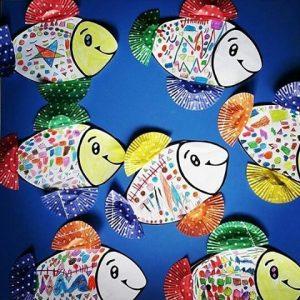 cupcake-liner-fish-craft