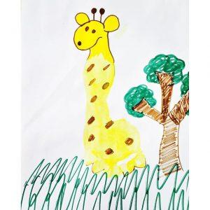 handprint-giraffe-craft-idea