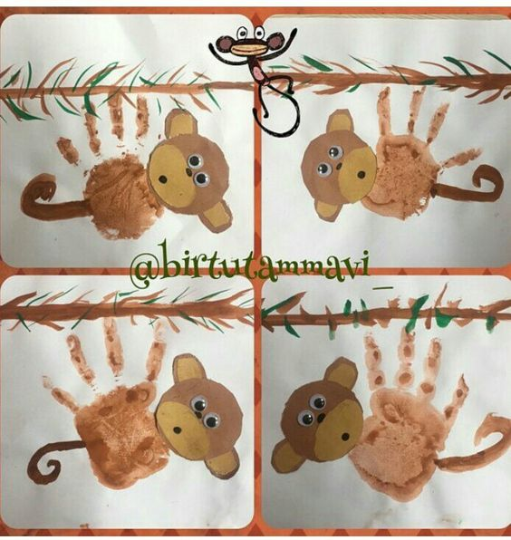 handprint-monkey-craft-idea-for-kids