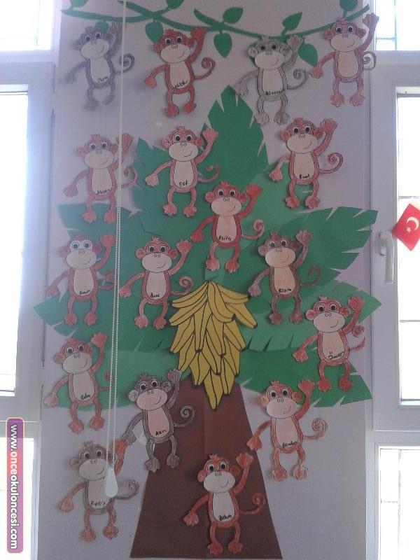 monkey-bulletin-board-idea-for-kids
