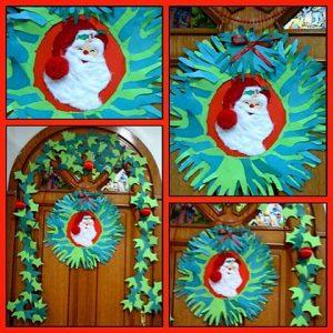handprint-christmas-wreath-craft