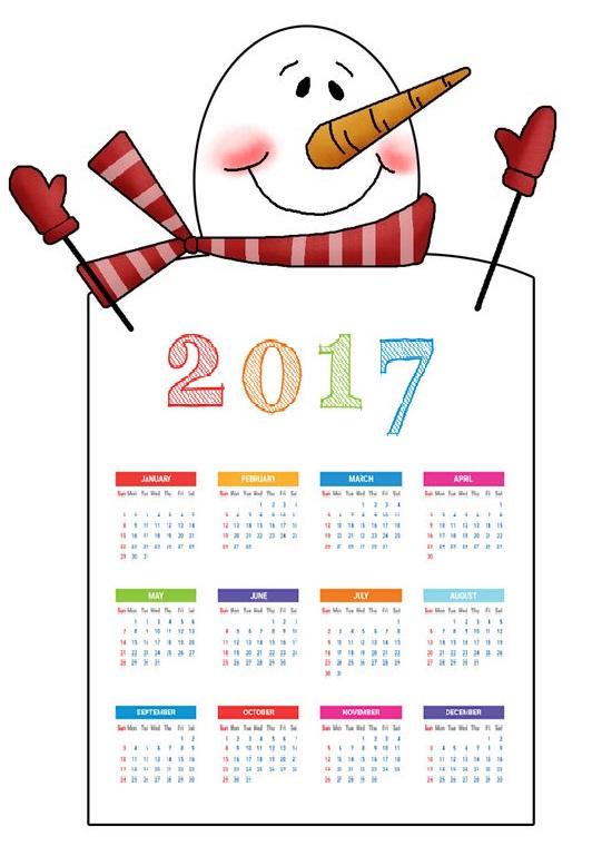 snowman-2017-calender