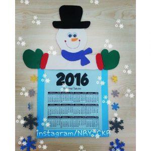snowman-calender-craft-idea-for-kids-3