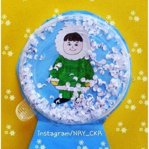 yogurt-cup-snow-globe-craft