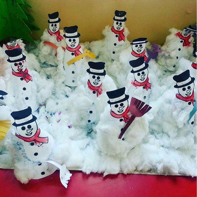 cone shaped snowman bulletin board idea (2)