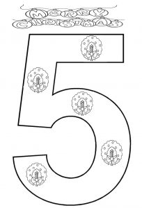 number-5-coloring-page