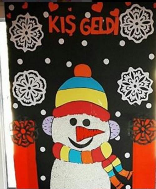 snowman bulletin board idea