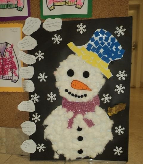 snowman bulletin board idea for kids