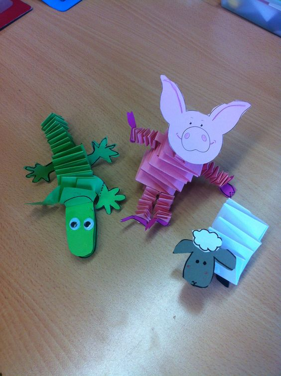 accordion animals craft idea