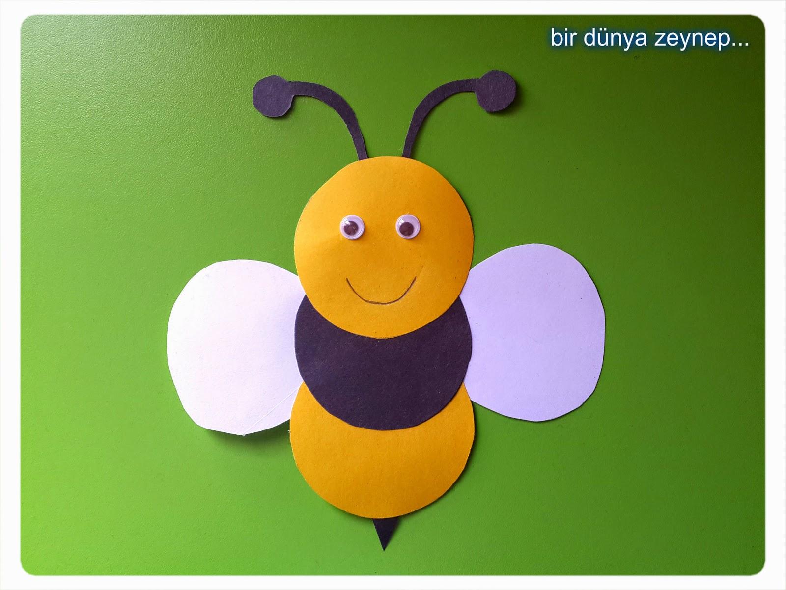 circle bee craft