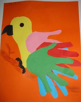handprint parrot craft (2)