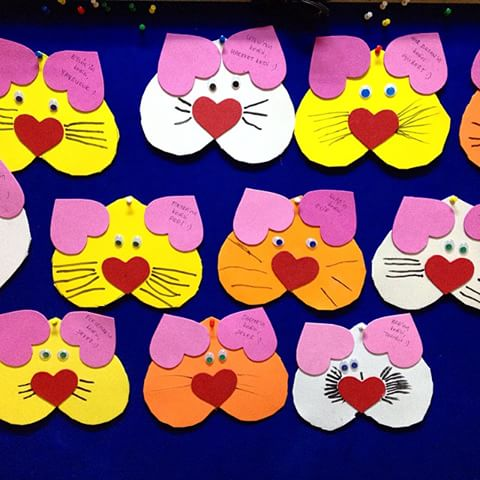 heart cat craft idea