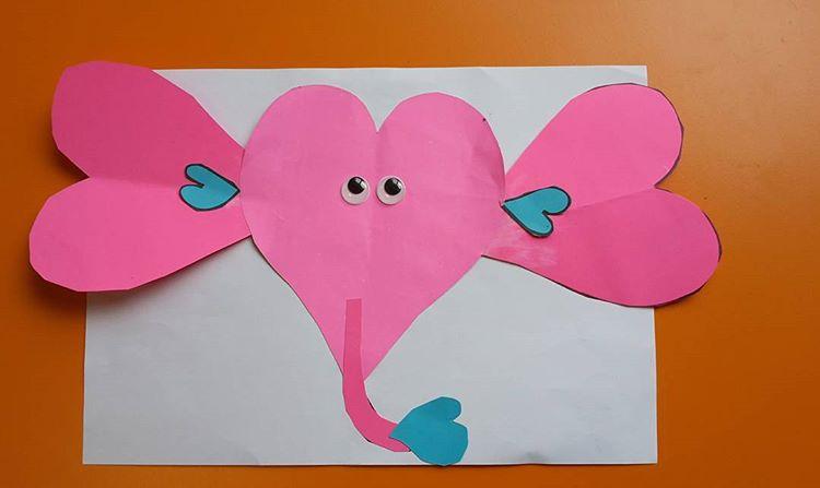 heart elephant craft