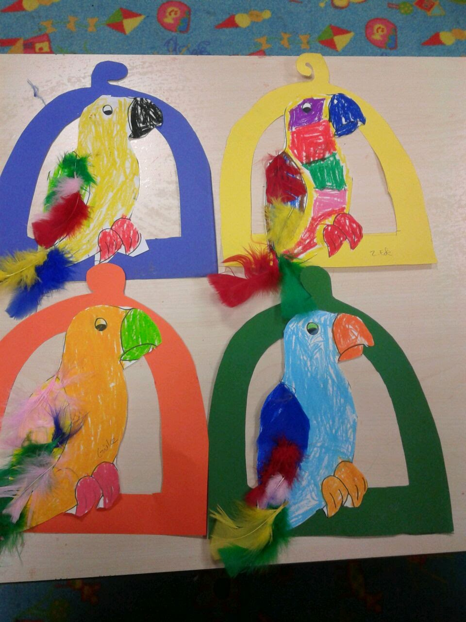 parrot craft idea for kids (2)