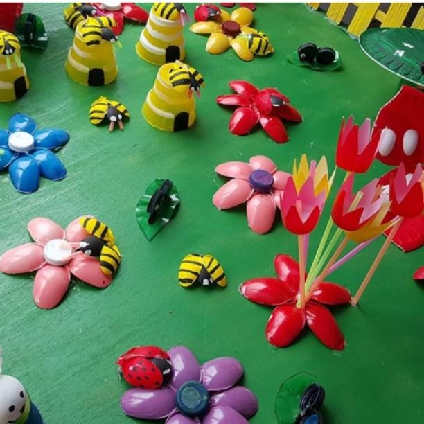 plastic spoon spring craft idea