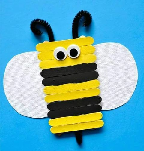 popsicle stick bee craft