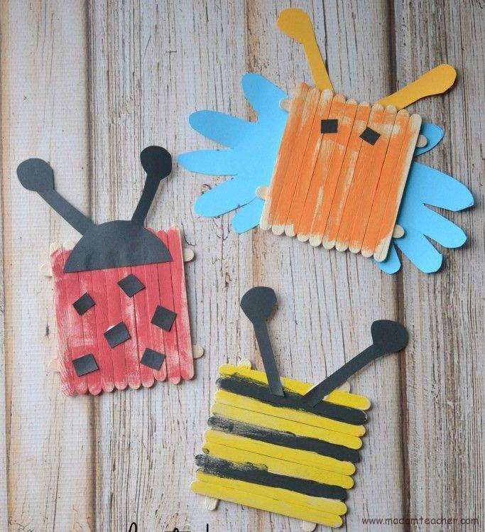popsicle stick bugs craft