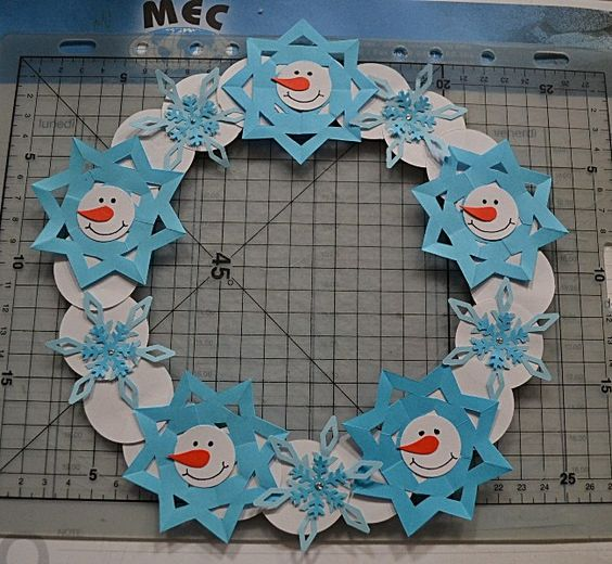 snowflake wreath craft (2)