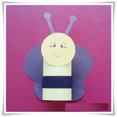 toilet paper roll bee craft