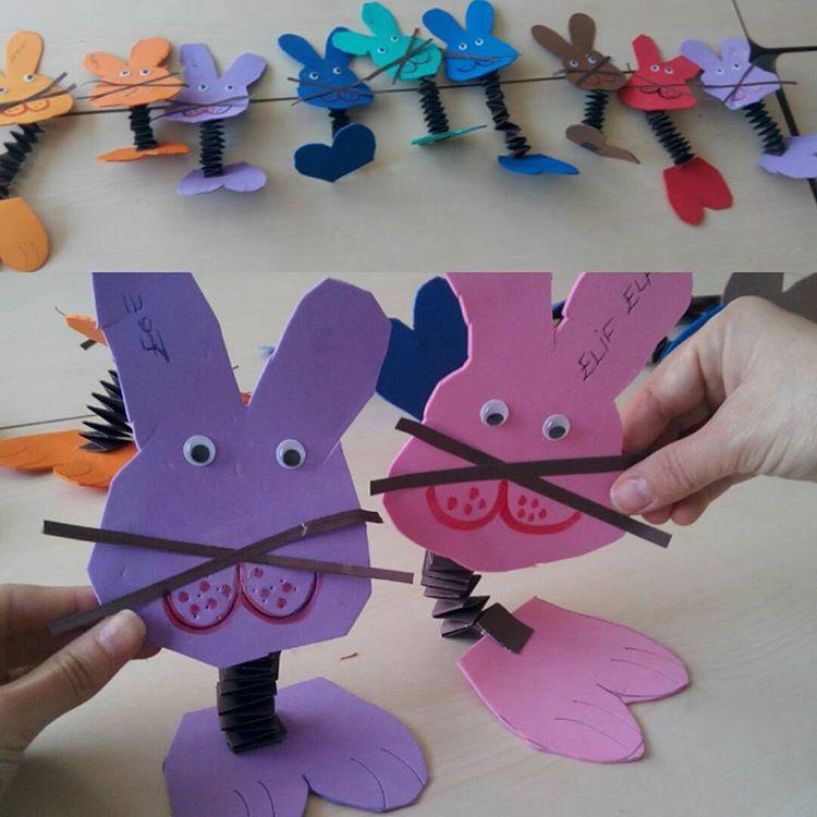 accordion bunny craft idea