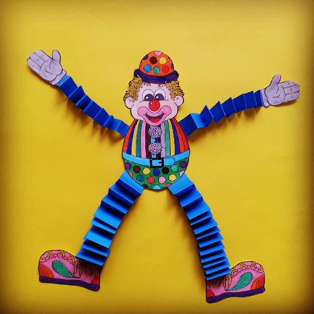 accordion clown craft idea