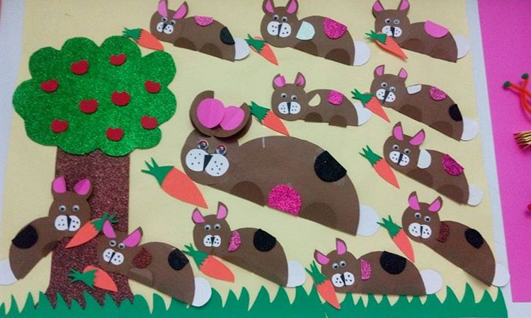 bunny bulletin board idea