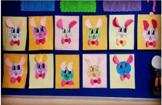 circle bunny craft