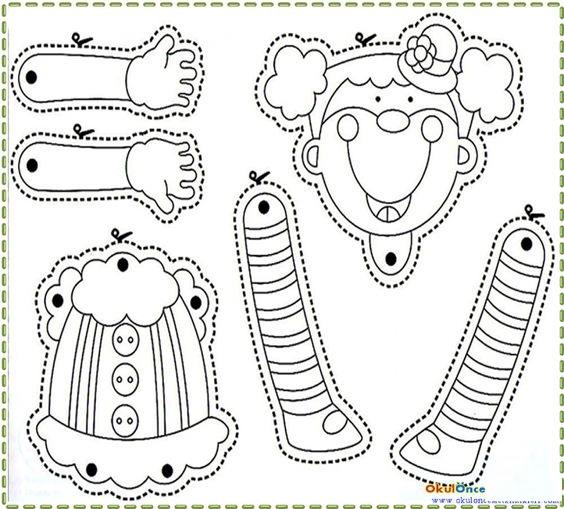 clown puppet template
