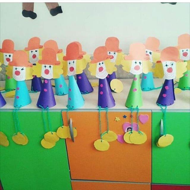 cone shaped clown craft