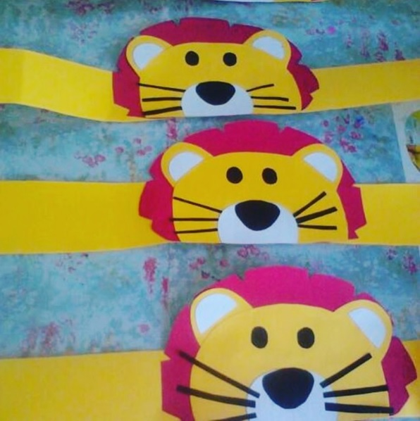 lion head band craft