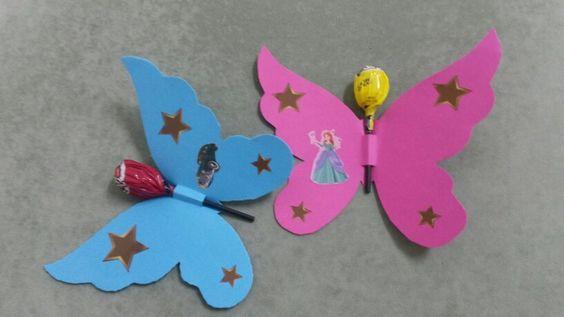 lollipop butterfly craft idea