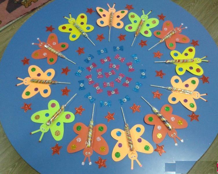 lollipop butterfly crafts
