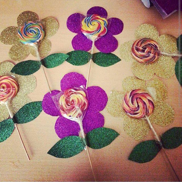 lollipop flower crafts