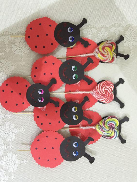lollipop ladybug craft