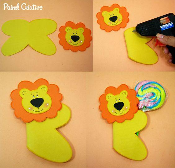 lollipop lion craft