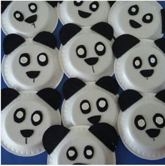 paper plate panda bear craft idea