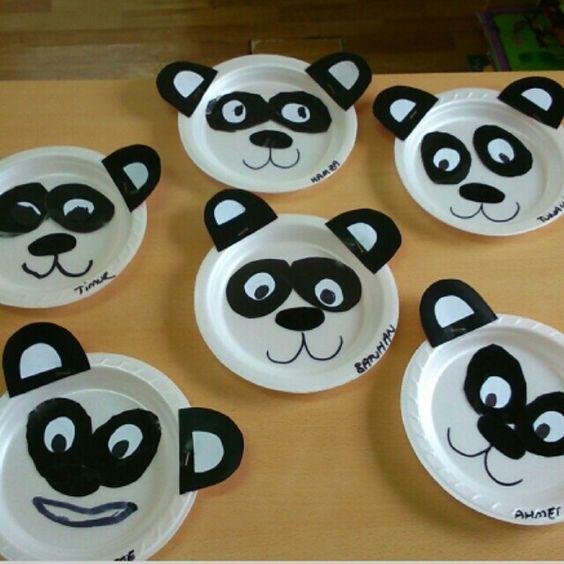 paper plate panda craft idea for kids