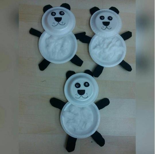 paper plate panda craft idea