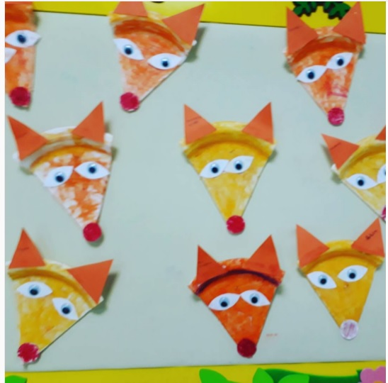 paper plate wolf craft