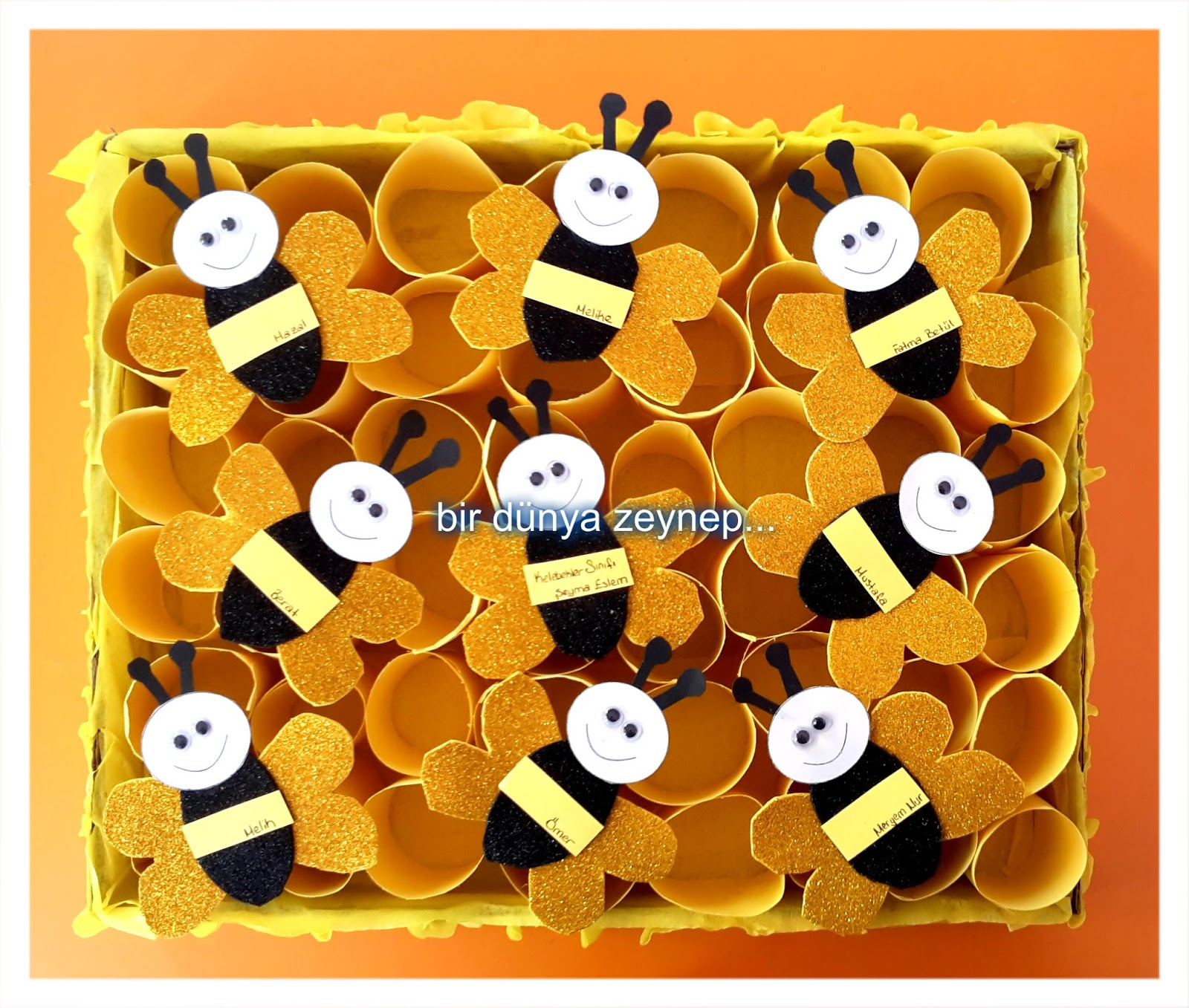 paper roll beehive craft (2)