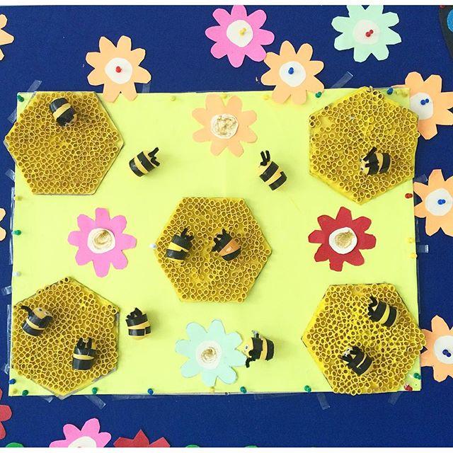 pasta beehive craft